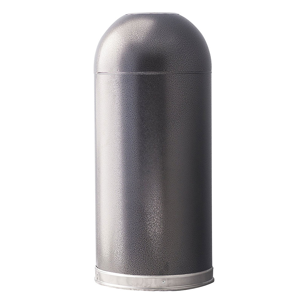 Witt 415DTSVN 15-gal Indoor Decorative Trash Can - Metal, Silver