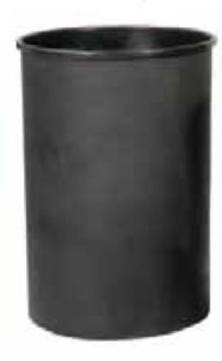 Witt 55LBK-R 25-Gallon Half Moon Liner For SC55 Recycling Container, Black