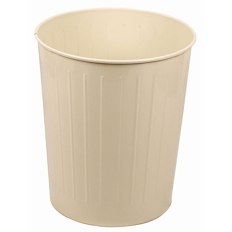 Witt 5AL 49.6-qt Round Waste Basket - Metal, Almond