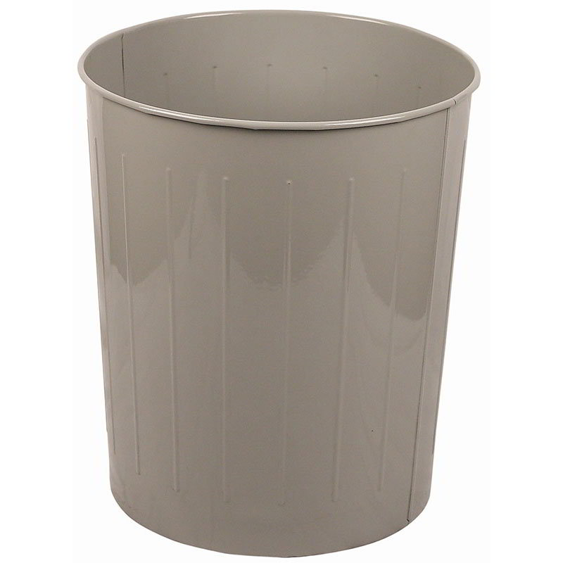 Witt 5SL Large Round Indoor Standard Trash Can w/ 49.6-qt Capacity, Slate