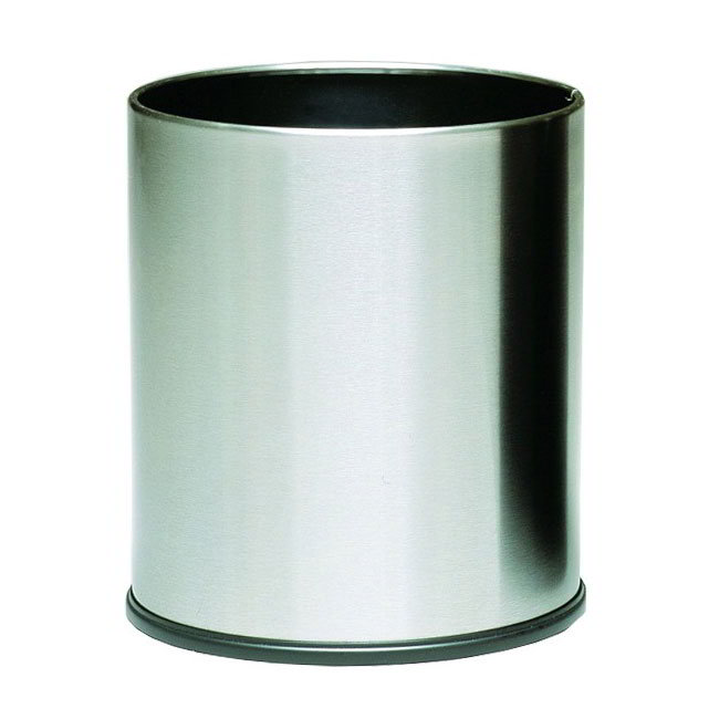 Witt 66SS 4-gal Indoor Decorative Trash Can - Metal, Stai...
