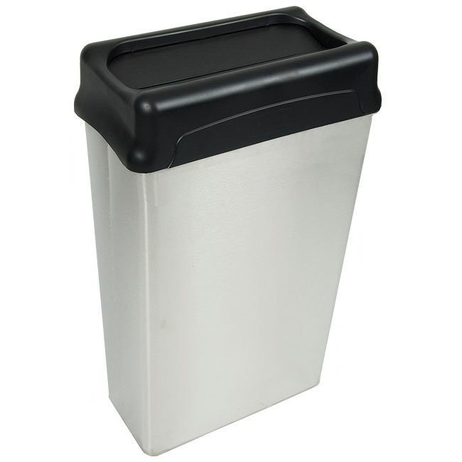 Witt 70HTSS 22-gal Indoor Decorative Trash Can - Metal, Stainless Steel