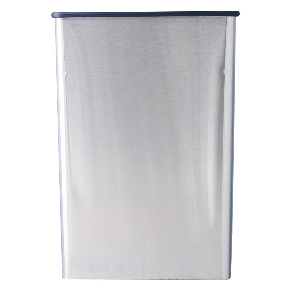 Witt 70SS Indoor Rectangular Trash Can w/ 22-Gallon Capacity, Stainless