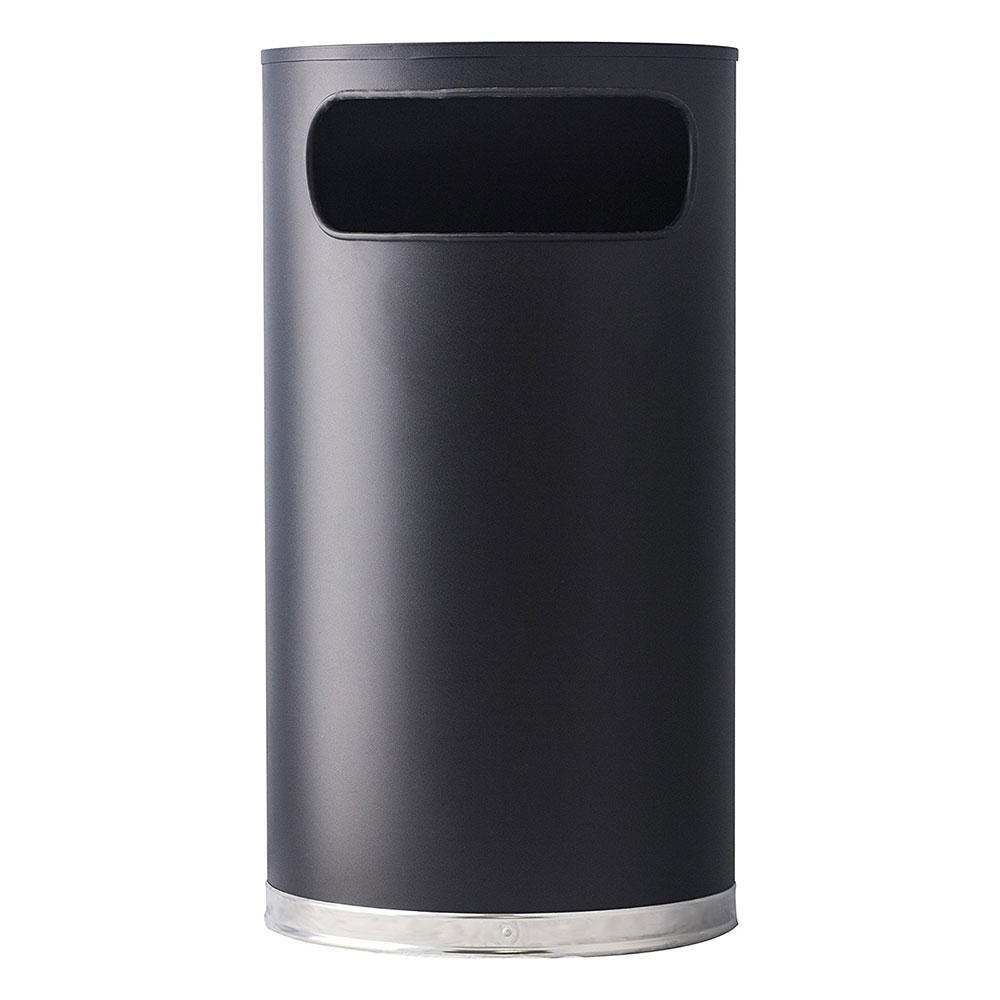 Witt 9HR-BK 9-gal Indoor Decorative Trash Can - Metal, Black