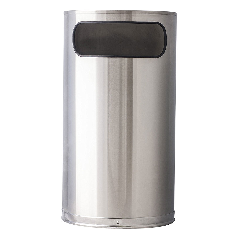Witt 9HR-SS 9-gal Indoor Decorative Trash Can - Metal, Stainless Steel