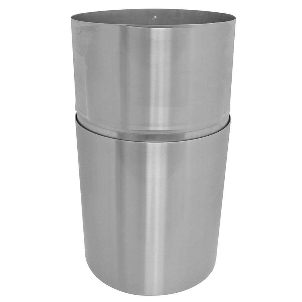 Witt AL18-CLR 24-gal Indoor Decorative Trash Can - Metal, Clear Coat