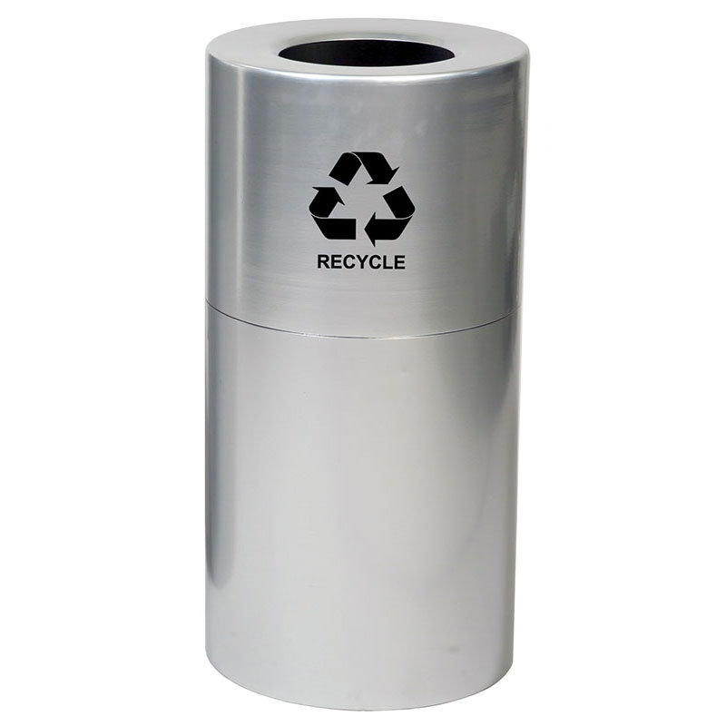 Witt AL18-CLR-R 24-gal Multiple Materials Recycle Bin - Indoor, Decorative