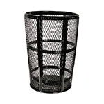 Witt EXP-52BK 48-Gallon Outdoor Trash Can w/ See Through Mesh, Black Finish