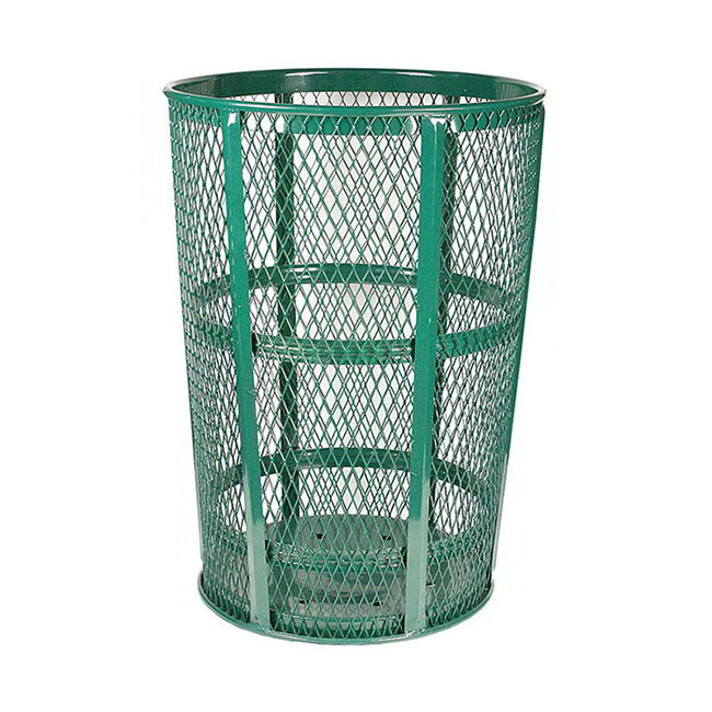 Witt EXP-52GN 48-Gallon Outdoor Trash Can w/ See Through Mesh, Green Finish