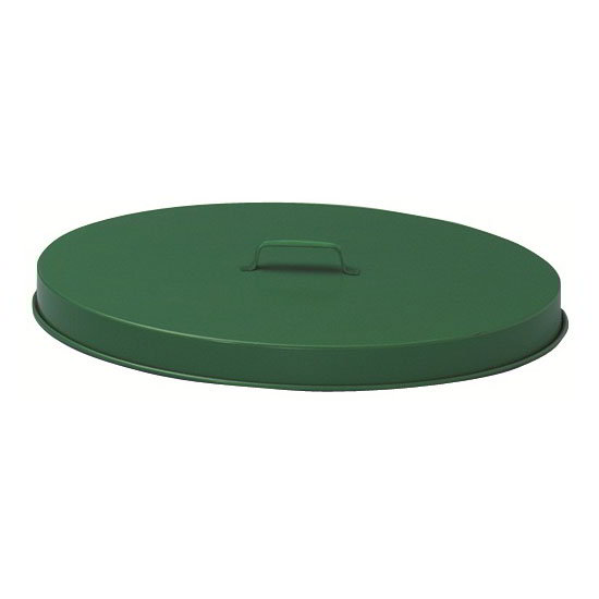 Witt FT255P 24-in Outdoor Flat Top Trash Can Lid, Steel w/ Green Finish
