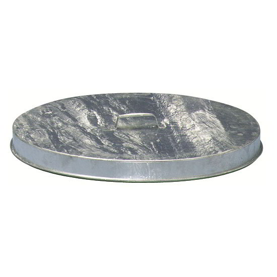 "Witt FT256G 24"" Outdoor Flat Top Trash Can Lid, Galvanized Steel"
