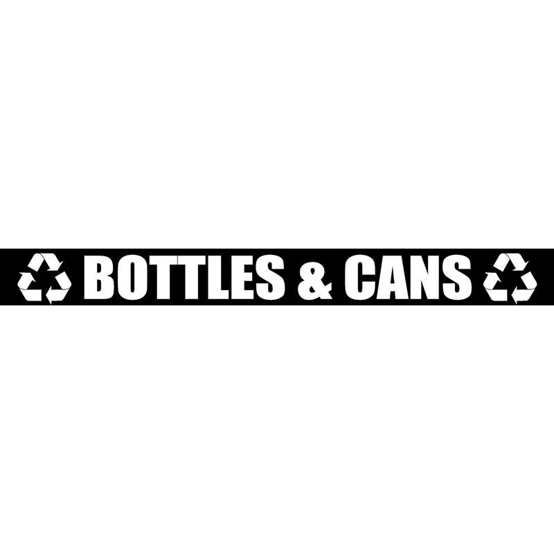 Witt LABEL16 Bottles & Cans Decal For Outdoor Containers, White
