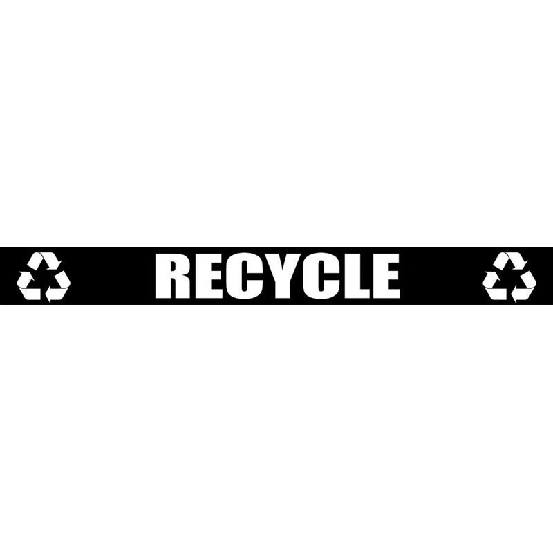 Witt LABEL17 Recycle Decal For Outdoor Containers, White