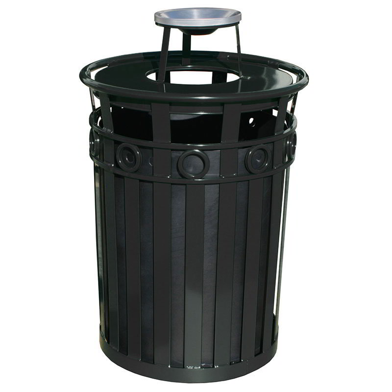 Witt M3600-R-AT-BK Trash Can Top Cigarette Receptacle - Decorative Finish