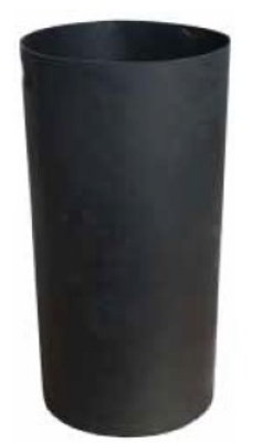 Witt Industries SMB24L Round Outdoor Trash Can Liner w/ 24-Gallon Capacity, Black Plastic