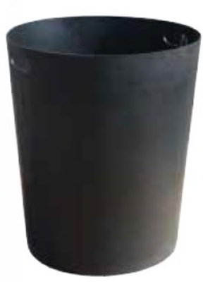 Witt SMB32L Round Outdoor Trash Can Liner w/ 32-Gallon Capacity, Black Plastic