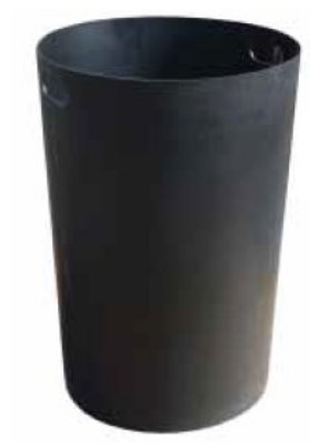 Witt Industries SMB36L Round Outdoor Trash Can Liner w/ 36-Gallon Capacity, Black Plastic