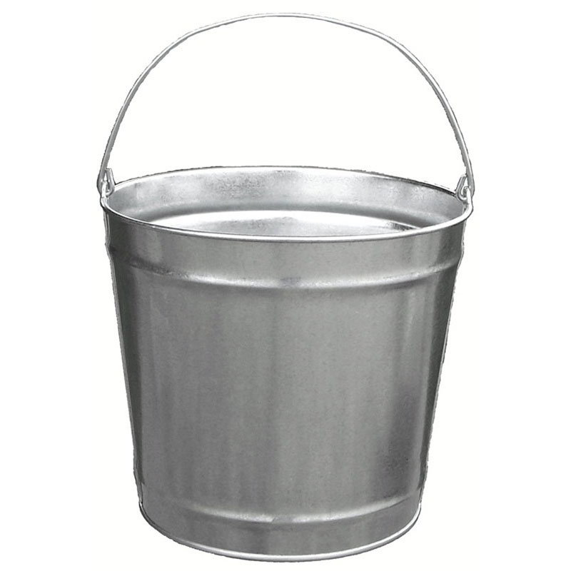 Witt W10120 12-qt Outdoor Pail w/ Attached Bail, Galvanized Steel