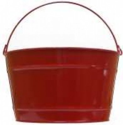 Witt W10PCCAR 10-qt Outdoor Pail w/ Attached Bail, Candy Apple Red Powder Coat