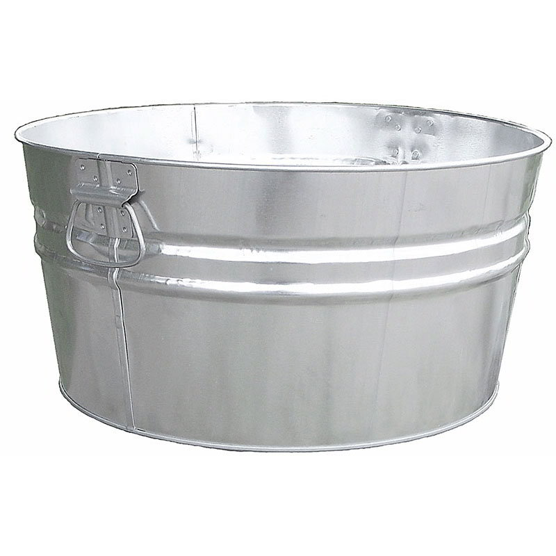 Witt Industries W14300 19-Gallon Outdoor Tub w/ Dual Drop Side Handles, Galvanized Steel
