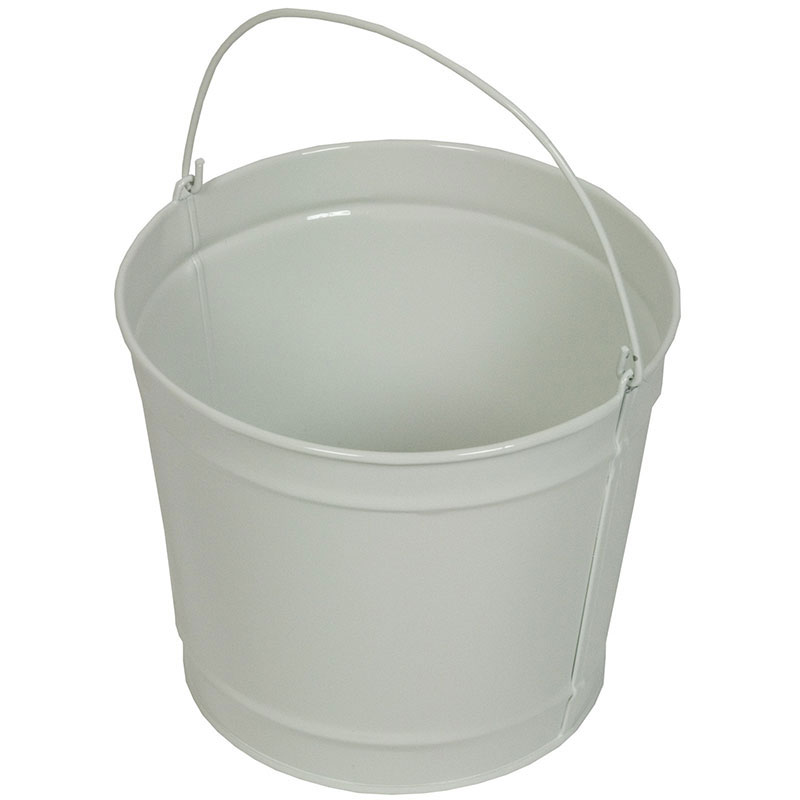 Witt Industries W5PCGW 5-qt Outdoor Pail w/ Attached Bail, Gloss White Powder Coat