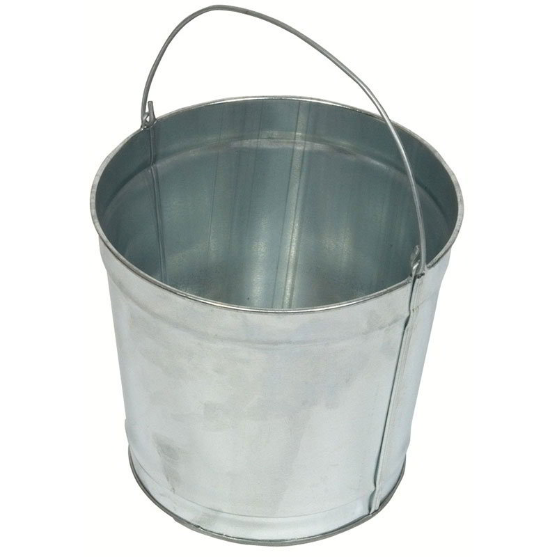 Witt W2QTG 2-qt Outdoor Pail w/ Attached Bail, Galvanized Steel