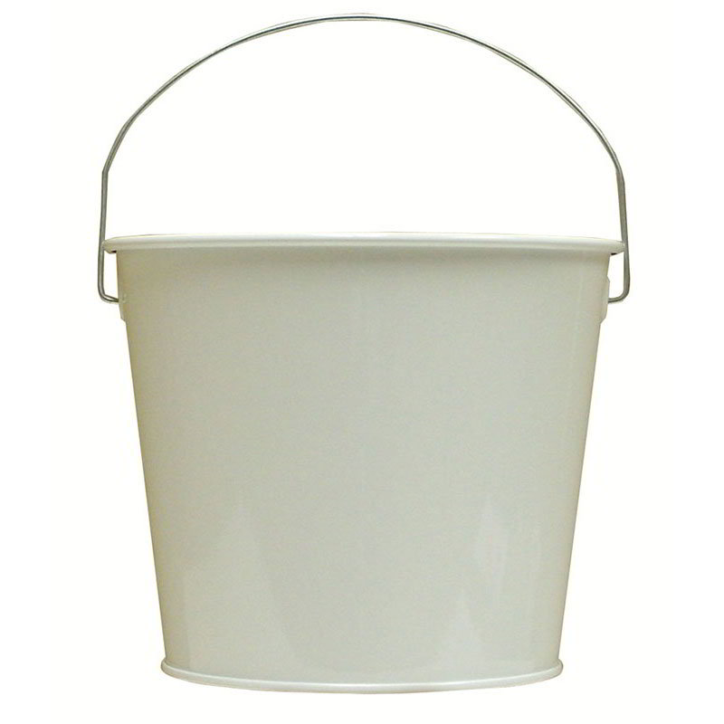 Witt W5PCGW 5-qt Outdoor Pail w/ Attached Bail, Gloss White Powder Coat