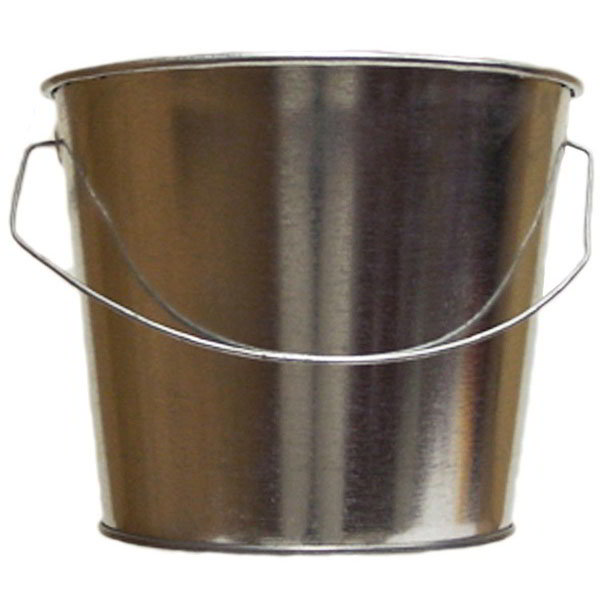 Witt W5QTG 5-qt Outdoor Pail w/ Attached Bail, Galvanized Steel