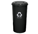 Witt Industries 10/1STBK 20-Gallon Indoor Recycling Container w/ Slotted Top, Black Finish