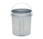 Witt Industries 10GPC 10-Gallon Light Duty Outdoor Trash Can w/ Recessed Bottom