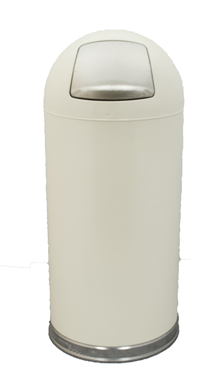 Witt Industries 15DTAL 15-Gallon Indoor Trash Can w/ Dome Top & Galvanized Liner, Almond