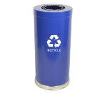 Witt Industries 15RTBL-1H 24-Gallon Indoor Recycling Container w/ 1-Opening, Blue Finish