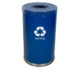 Witt Industries 18RTBL-1H 35-Gallon Indoor Recycling Container w/ 1-Opening, Blue Finish