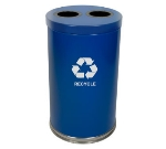 Witt Industries 18RTBL-2H 36-Gallon Indoor Recycling Container w/ 2-Openings, Blue Finish