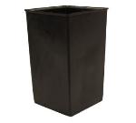 Witt Industries 21R Rigid Indoor Trash Can Liner w/ 21-Gallon Capacity, Black Plastic