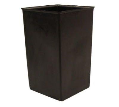 Witt Industries 21R Rigid Indoor Trash Can Liner w/ 21-Gallon Capacity, Black Plastic