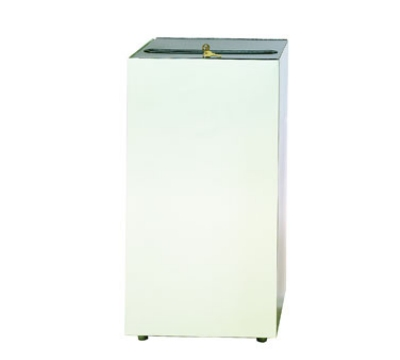Witt Industries 32MSR-PT 32-Gallon Indoor Waste Cabinet w/ Lock & 2-Keys, Putty Finish