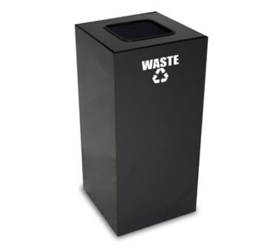 Witt Industries 32GC03-CB 32-Gallon Indoor Recycling Container w/ Square Opening, Charcoal