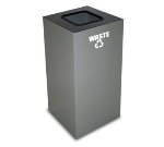 Witt Industries 32GC03-SL 32-Gallon Indoor Recycling Container w/ Square Op