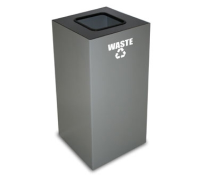 Witt Industries 32GC03-SL 32-Gallon Indoor Recycling Container w/ Square Opening, Slate