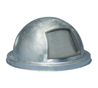 Witt Industries 3434G 21.25-in Outdoor Dome Top Trash Can Lid, Galvanized Steel