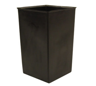 Witt Industries 36R Rigid Indoor Trash Can Liner w/ 36-Gallon Capacity, Black Plastic
