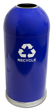 Witt Industries 415DTBL-R Indoor Recycling Container w/ 15-Gallon Capacity, Blue Finish