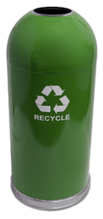 Witt Industries 415DTGN-R 35-in Indoor Recycling Container w/ 15-gal Capacity & 15-in Diameter, Green