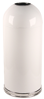 Witt Industries 415DTWH 15-Gallon Standard Indoor Trash Can w/ Dome Top Lid, White Finish