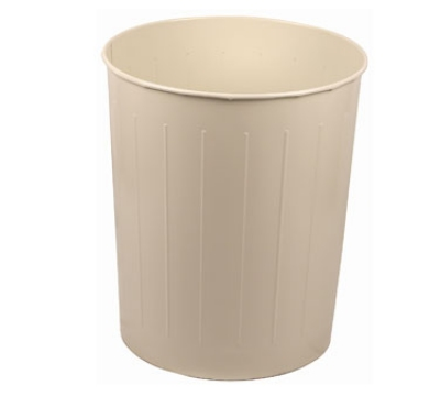 Witt Industries 4AL Round Medium Indoor Standard Trash Can w/ 26-qt Capacity, Almond