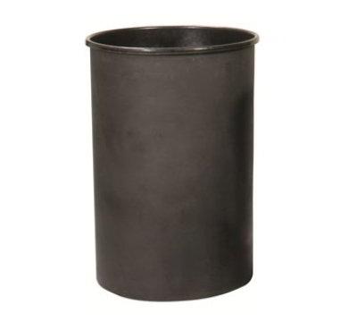 Witt 55LBK 55-gal Round Rigid Trash Can Liner, Plastic - Black
