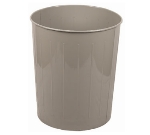 Witt Industries 5SL Large Round Indoor Standard Trash Can w/ 49.6-qt Capacity, Slate
