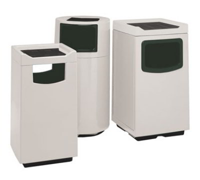 Witt 77C-2347FCSP DC-34 45-gal Indoor Decorative Trash Can - Fiberglass, Black