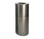 Witt Industries AL18-SVN 24-Gallon Indoor Decorative Trash Can w/ Plastic Liner, Silver Vein
